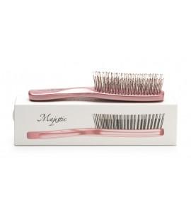 Расческа MAJESTIC PASTEL PINK для тонких и ослабленных волос
